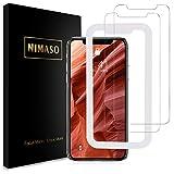 【ガイド枠付き】【2枚セット】 Nimaso iPhone XR 用 強化ガラス液晶保護フィルム 業界最高硬度9H/高透過率/貼り付け簡単 ( iPhoneXR 用 保護フィルム )