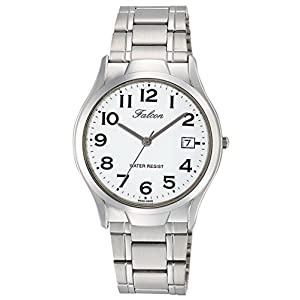 [シチズン キューアンドキュー]CITIZEN Q&Q 腕時計 Falcon ファルコン アナログ ブレスレット 日付 表示 ホワイト D012-204 メンズ