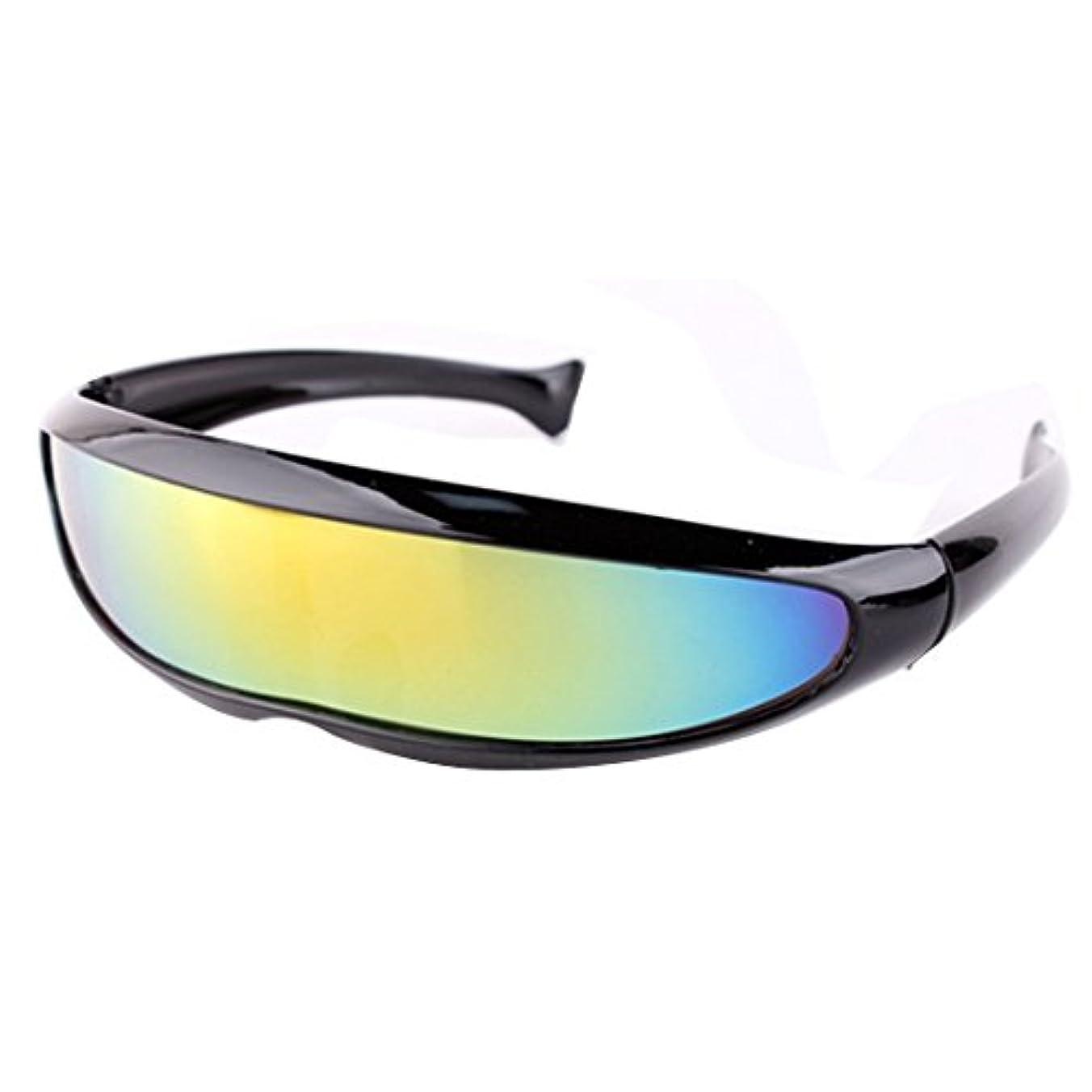 アレルギー性純粋な参加者Fairyjp カッコイイサングラス メンズスポーツサングラス UV400欧米式レンズ一体ゴーグル 超軽量偏光レンズ