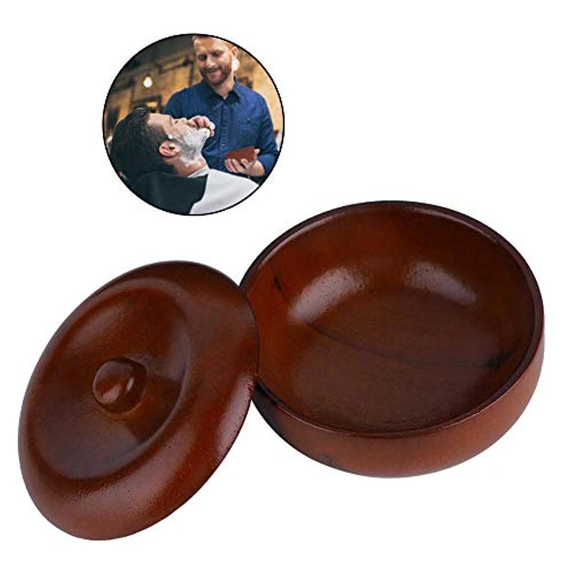 例サークルお風呂を持っているシェービングフォームボウル品質ゴム木シェービングクリームボウルに適しヘアサロンホームシェービングフォーム