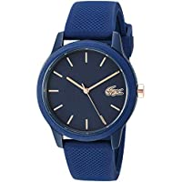 Lacoste TR90 Quartz Watch with Rubber Strap, Blue, 18 (Model: 2001067)