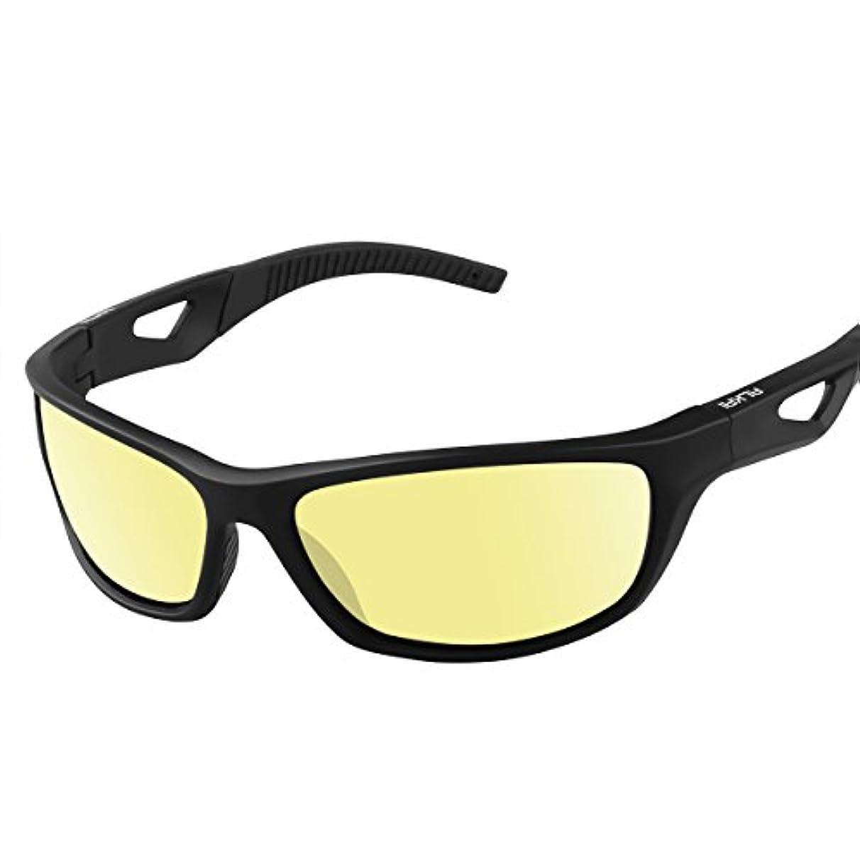 膜想定するトラクターメンズ&レディース – Akaso偏光サングラススポーツサングラス釣り、ゴルフ、ハイキング、ランニング、サイクリング、カジュアル、100 % UV保護スポーツサングラス使用、スタイリッシュで軽量