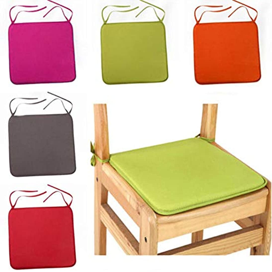 の面ではサークル報告書LIFE 40 × 40 センチメートルの椅子のクッションシートダイニング椅子屋外屋内キッチンスクエアソフトネクタイ椅子パッドホーム装飾 クッション 椅子
