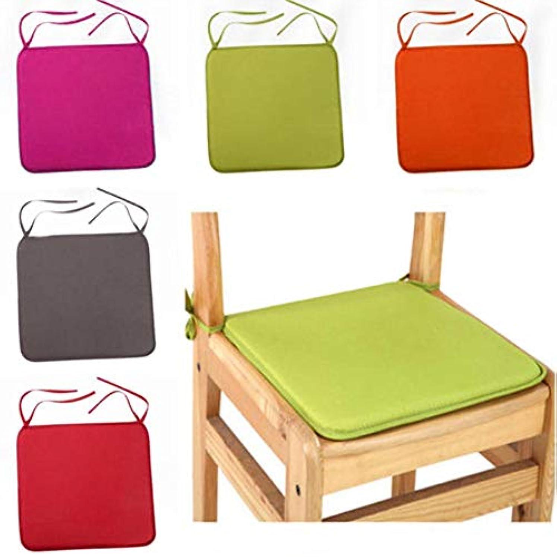 防ぐ変動するフラフープLIFE 40 × 40 センチメートルの椅子のクッションシートダイニング椅子屋外屋内キッチンスクエアソフトネクタイ椅子パッドホーム装飾 クッション 椅子