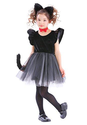 プティシャノワール 黒猫 ねこ コスプレ キッズ 120cm 黒