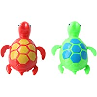 2 Pcs Wind up Clockwork Swimming Turtles Pool Shower Floating Toy (color random) by styleinside