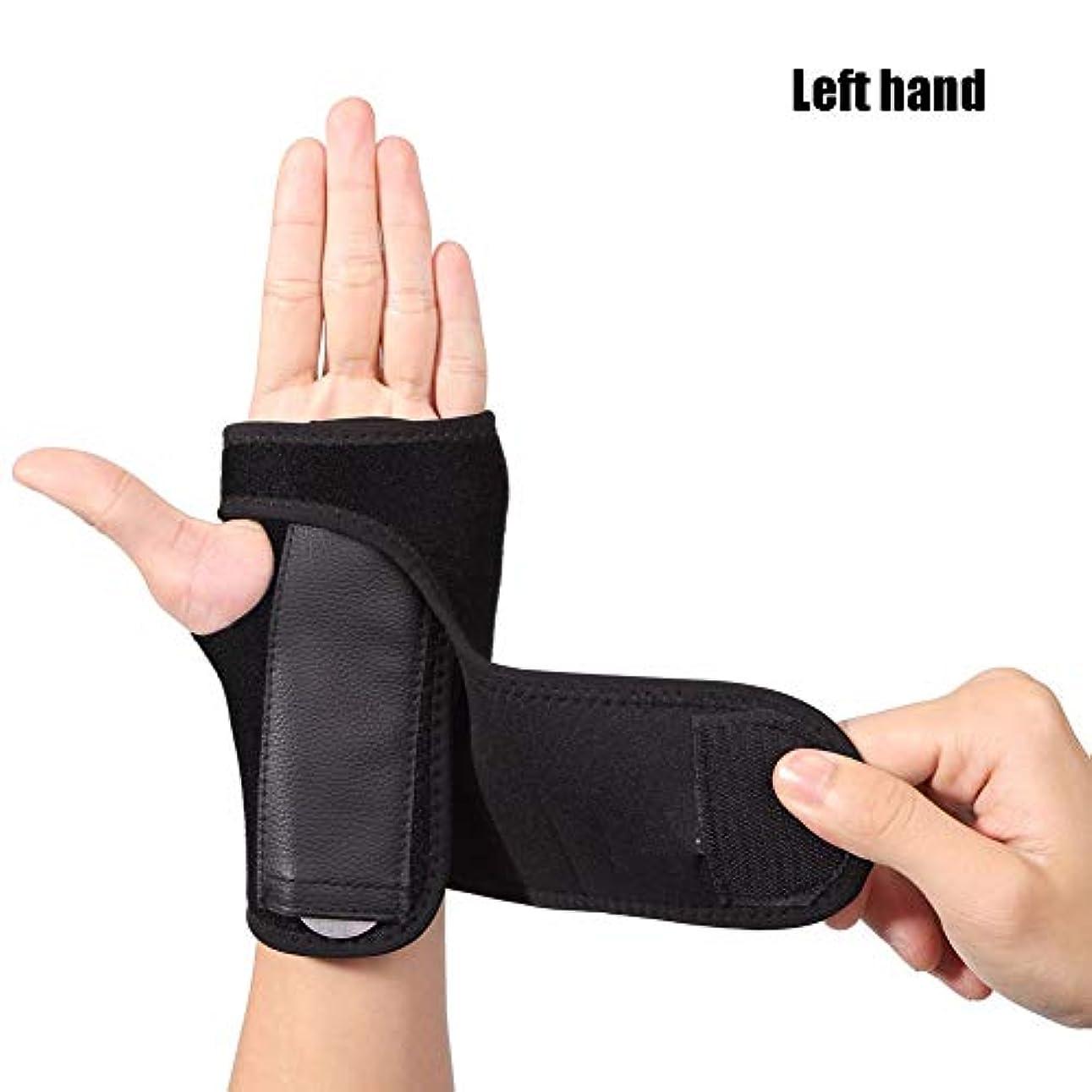 報復苛性ローブ手根管腱炎骨折関節炎の捻forのための手首のサポートスプリント,Left