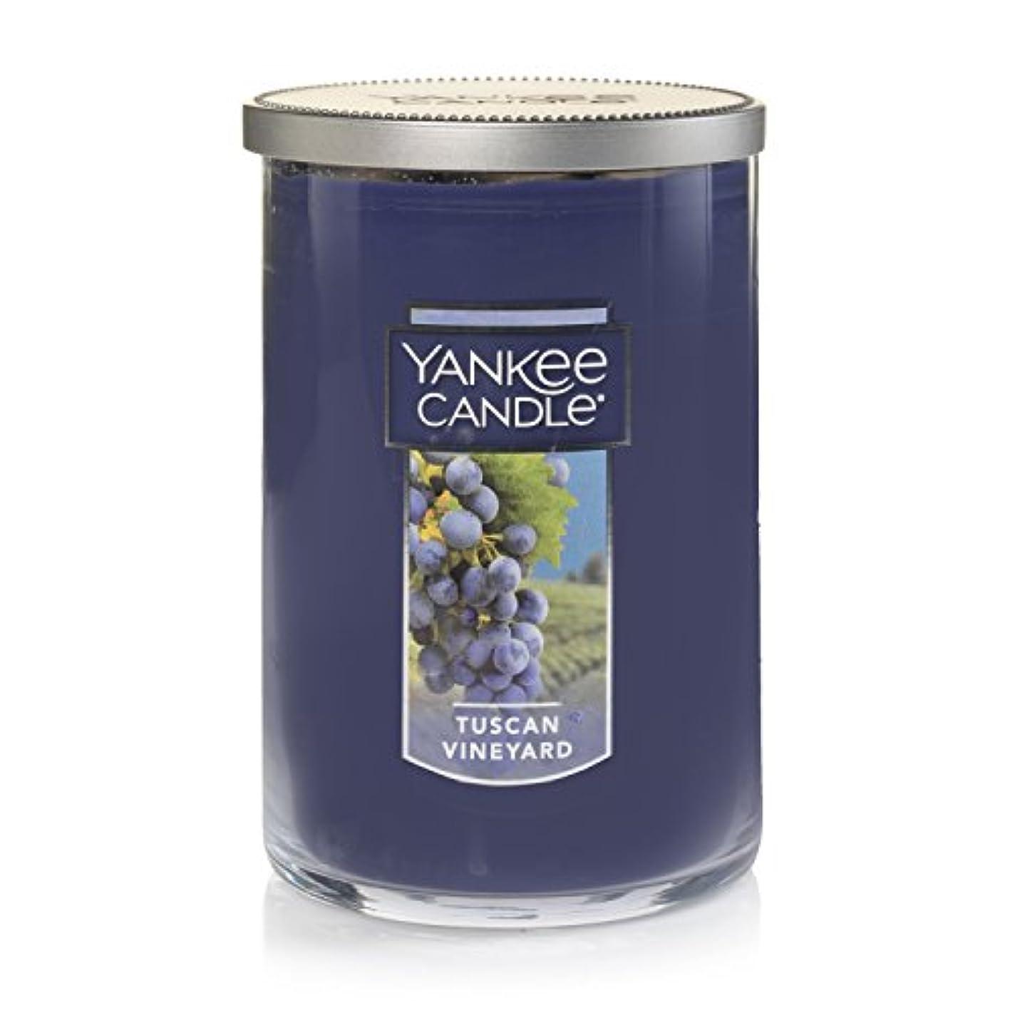 髄控える取り戻すYankee Candle Tuscan Vineyard Large 2-Wick Tumbler Candle パープル 1521694z