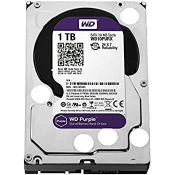WD HDD 内蔵ハードディスク 3.5インチ 1TB WD Purple 監視カメラ用 WD10PURX IntelliPower 3年保証