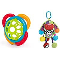 Baby Activity Colorful Rattle Doofy Dog on the go with Texture Oball grasp and teethe gift set [並行輸入品]