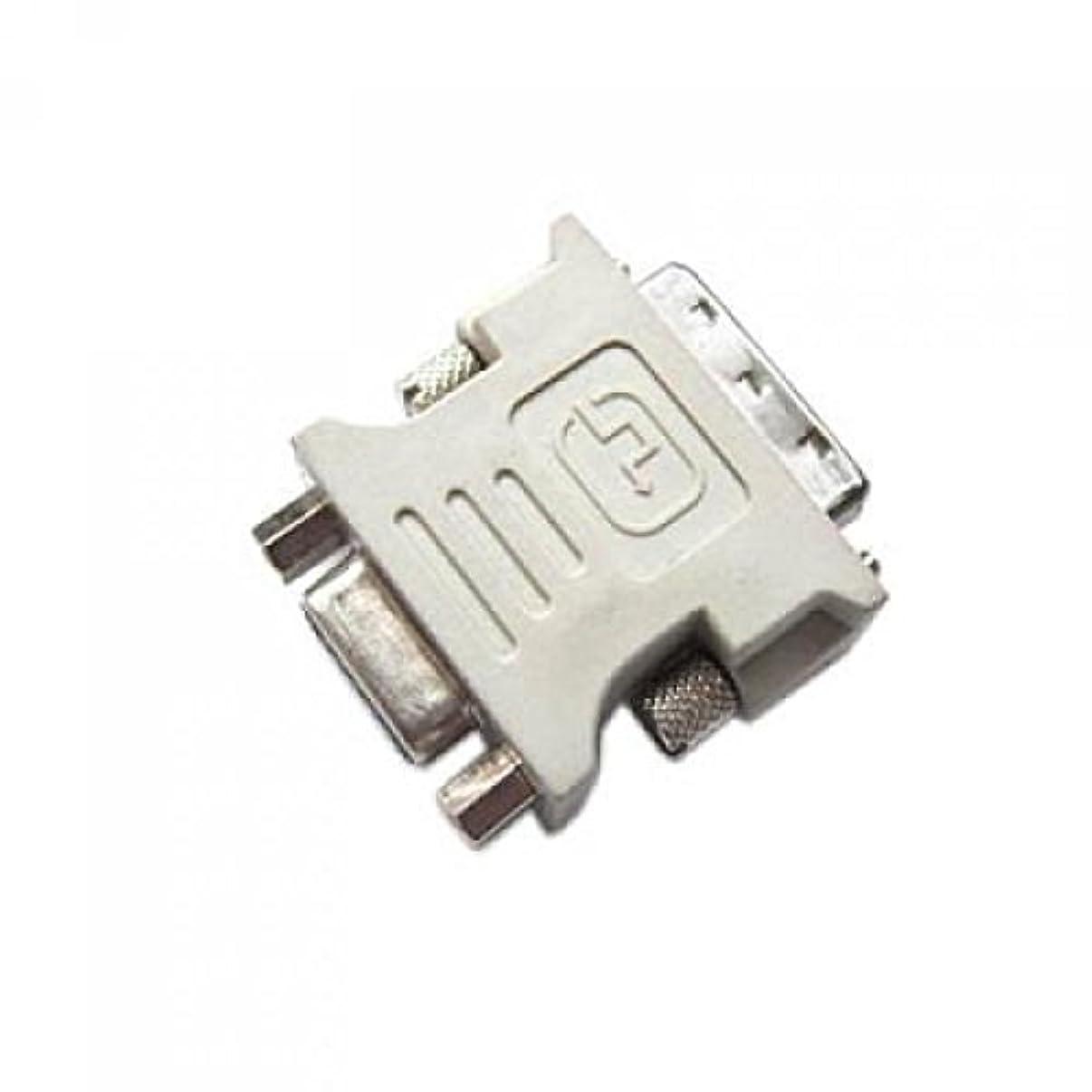 円周論争の的社説Sharplace VGA(メス15ピン) DVI-D(オス24 +1ピン) アダプタ コンピュータ 信号伝達 コネクター 2個