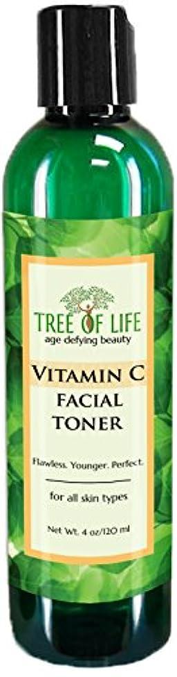おなじみのアフリカ裁判所Tree of Life Beauty ビタミン C フェイシャル トナー 細孔 最小化 若返り