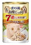 ユニ・チャーム 愛犬元気缶 7歳以上 ビーフ&チキン・野菜 375g