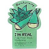トニーモリー私は本当の保湿アロエフェイスマスクです x2 - Tony Moly I'M Real Moisturising Aloe Face Mask (Pack of 2) [並行輸入品]