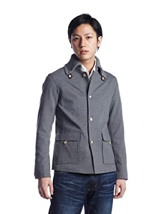 Spanish Collar Jersey Jacket 1227-185-0338: Grey