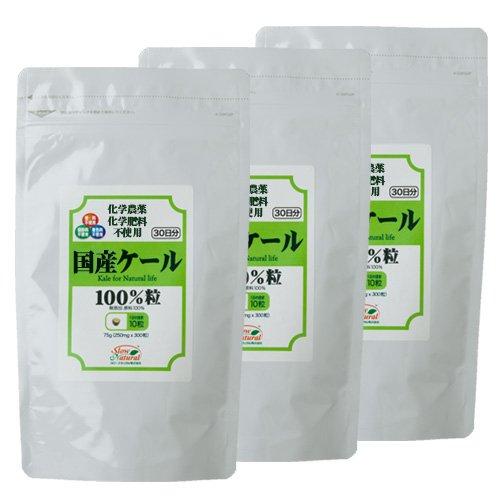 国産ケール100%粒 300粒×3個セット(3ヶ月分)
