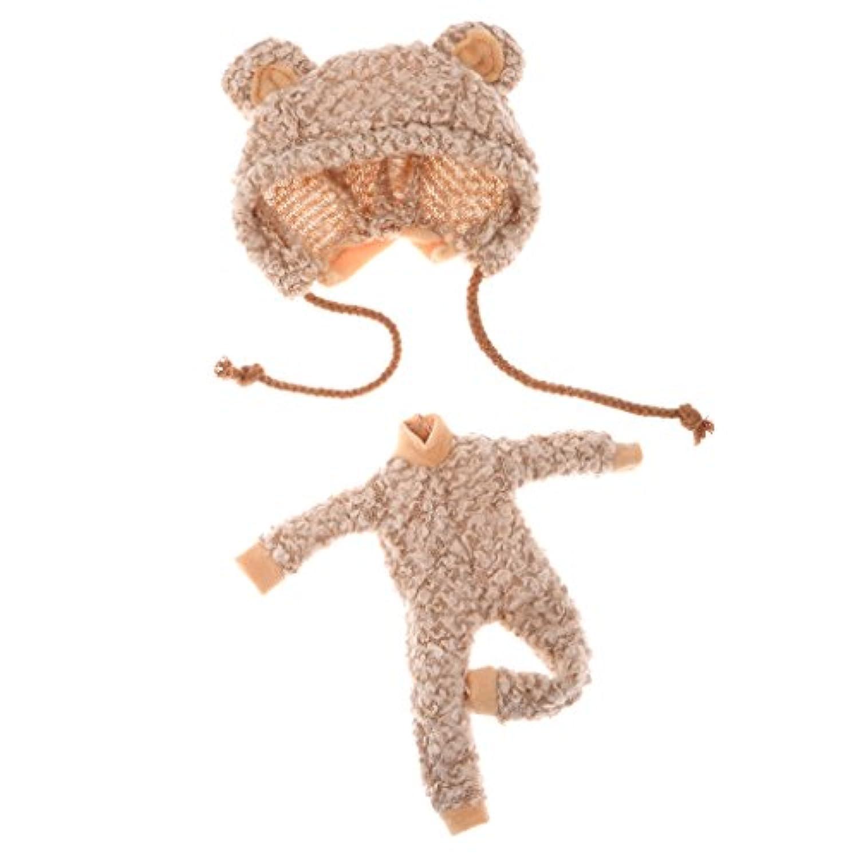 Lovoski かわいい ガール 人形用 ベア 服 帽子  12インチブライスドール対応 アクセサリ