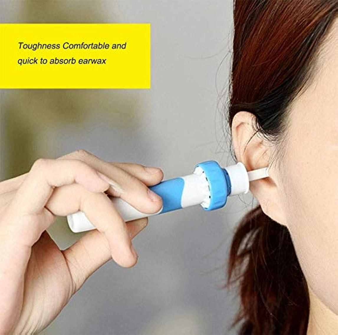 覚えている無知がっかりするポータブル自動電動バキューム耳ワックス耳垢除去ツールキット、耳掃除機簡単耳垢の除去ソフトを防ぐ大人子供のために設定クリーンツール(2個)を耳ピック