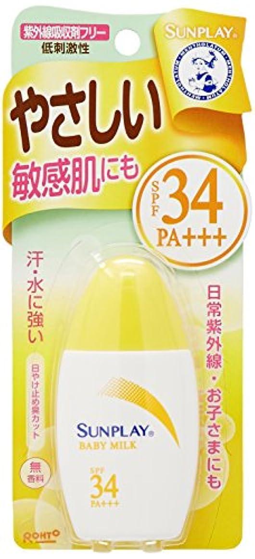 皿物思いにふける入口メンソレータム サンプレイ ベビーミルクα 30g