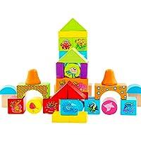 教育玩具ビルディングブロック38カプセル海洋動物アセンブリ取り外し可能24 * 20.5 * 14.5CM