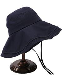 Lala gou-jp 漁夫帽 レディース  大きい 春夏秋 日よけ帽子 uvカット 遮熱 遮光 通気吸汗 調節可能 小顔 紫外線対策に つば広ハット 折りたたみ 登山 釣り 旅行 アウトドア 3色