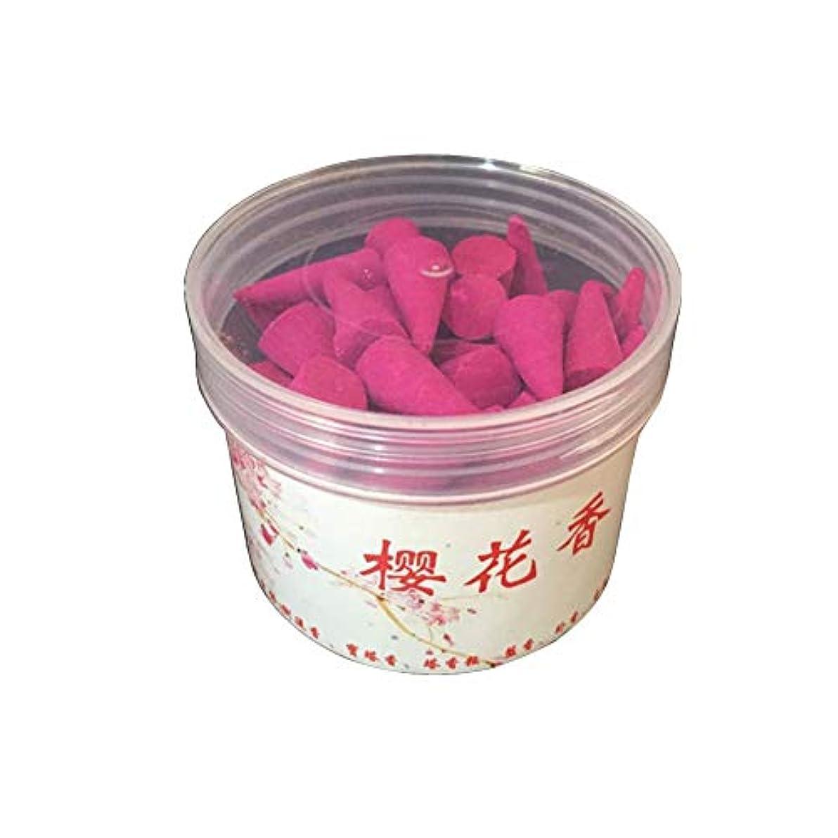 ファブリック反逆合併香コーン、45ピースの逆流香コーンナチュラルな香りローズラベンダーおよびその他の種類の混合天然逆流香コーンタワー型アロマ屋内香り