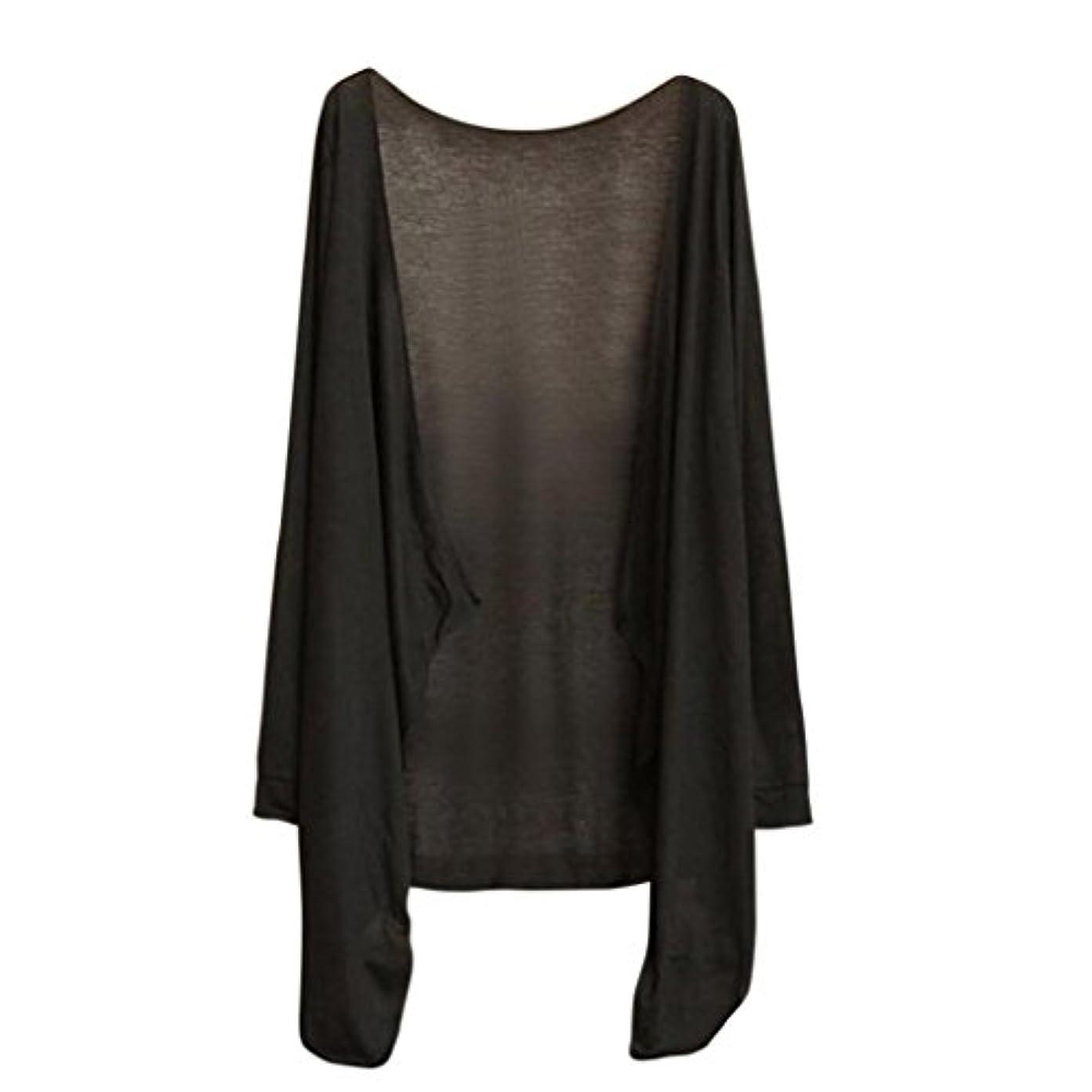 順番縫うチェリーSakuraBest 長いセクションの太陽保護シャツショールショールの小さなコートで薄い日保護服女性の透明な長袖の空調カーディガン