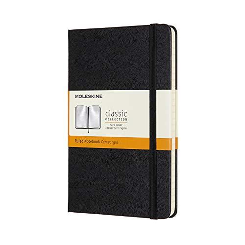 モレスキン クラシック ノートブック ハードカバー ミディアムサイズ ブラック 横罫 QP050