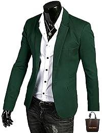 (アーバンセレクト) Urban Select テーラードジャケット メンズ 七分丈 ジャケット ネイビー  春 秋 チェック 迷彩 AI-1672(エコバッグセット)