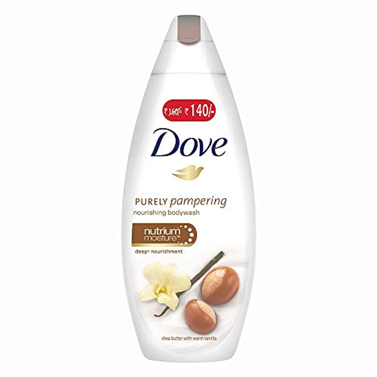 在庫バリアパワーセルDove purely pampering Shea Butter and Warm Vanilla Body Wash, 190ml
