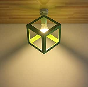FSlivingシーリングライト 引掛式 小型 照明器具 おしゃれ シンプル 天井5畳 洗面所 台所 廊下 階段用 工事不要 E26 LED電球対応 グリーン