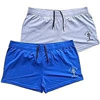 "Alivegear Men's Bodybuilding Golds Gym Shorts 3"" Inseam Cotton Without Pocket"