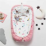 Baby Lounger, Eip.t Baby Nest Portable Super Soft Organic Cotton and Breathable Newborn Lounger - Perfect for Co-Sleeping - N