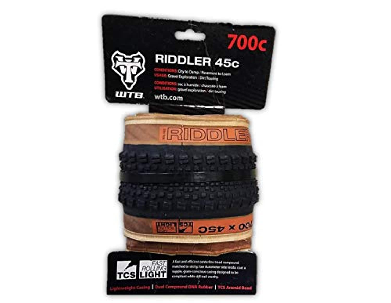 WTB Riddler 700x45 TCS 軽量高速ローリングタイヤ グラベルCXアドベンチャーバイクパック - 色をお選びください