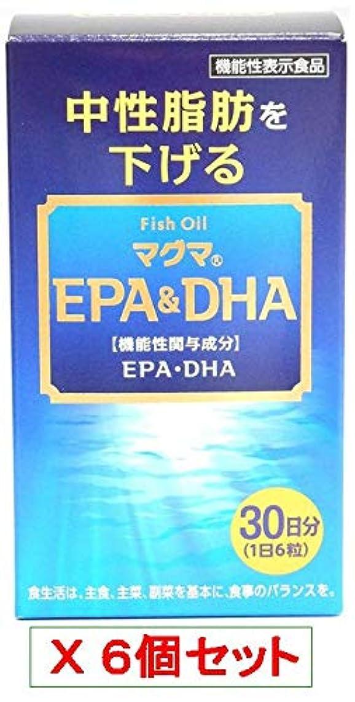 時ポスト印象派体系的にマグマEPA(イーピーエー)&DHA(ディーエイチエー)180粒(30日分)X6個セット