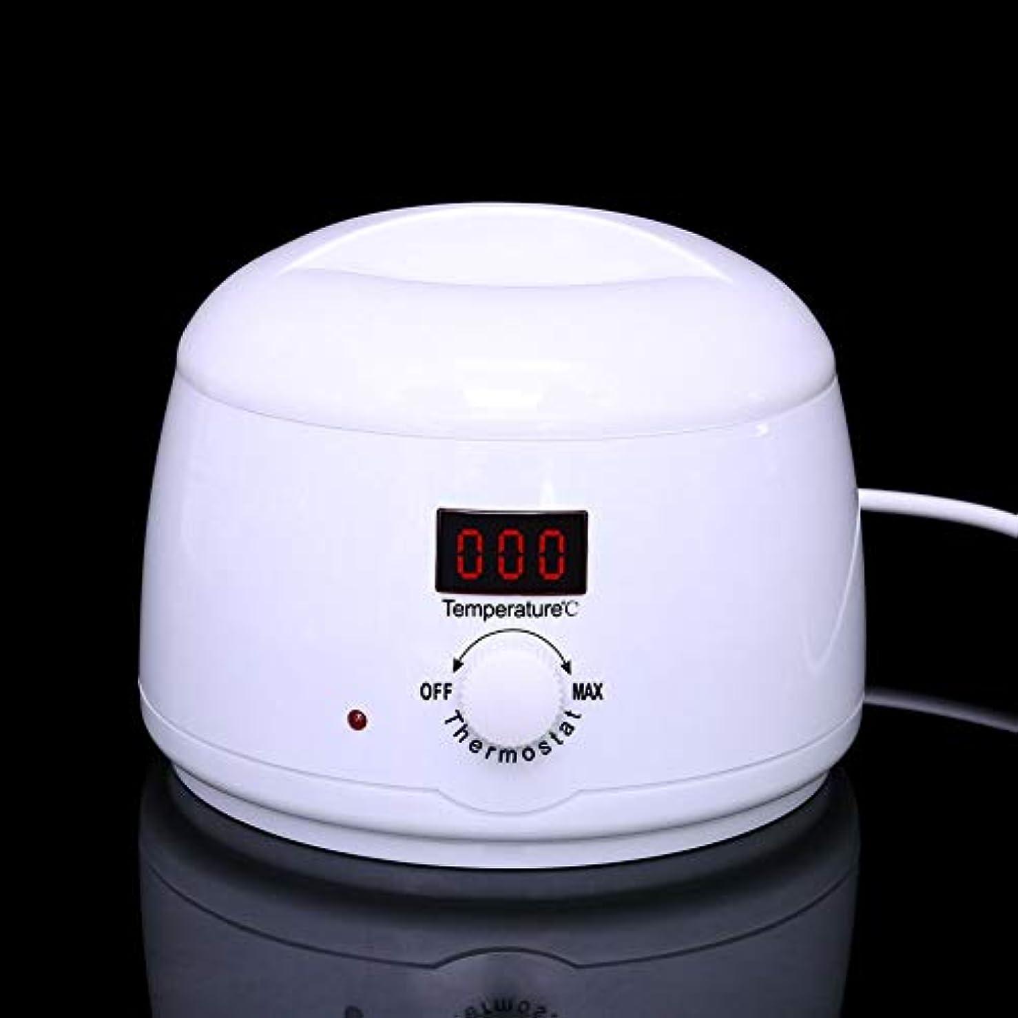 強調する弁護人分配します調節可能な温度のワックスマシン、女性および男性500CCのための多機能の家のワックスが付いている毛の取り外しのための専門の電気ワックスのウォーマーのヒーターのメルター