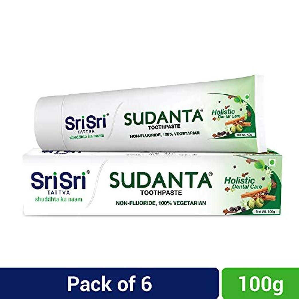 チョップ悲しいことにしわSri Sri Tattva Sudanta Toothpaste, 600gm (100 x Pack of 6)