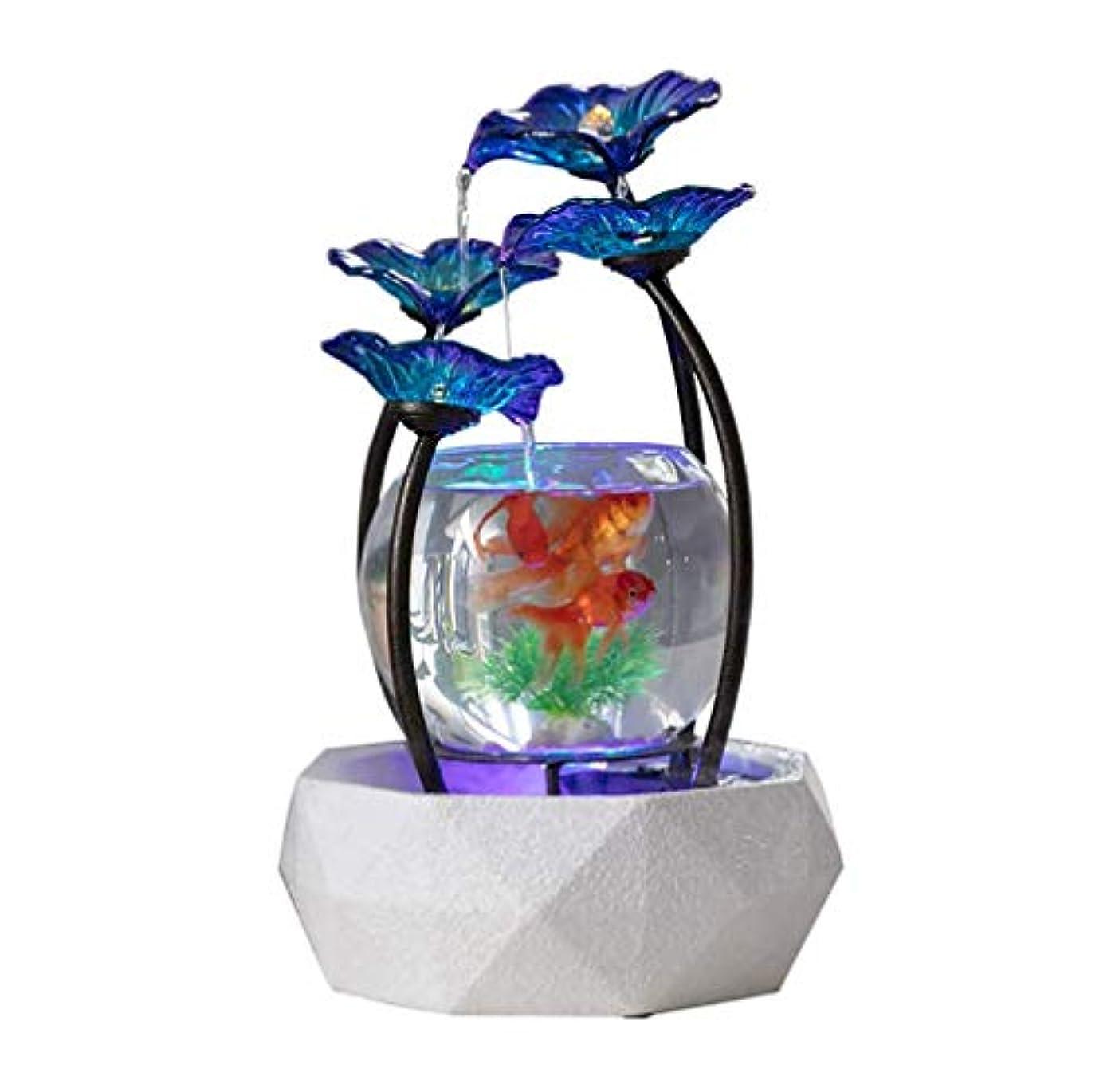 ぐったり死にかけている市区町村創造的なガラス水槽、噴水金魚タンク、LEDライト付き水族館、家/オフィスの装飾のため良い友達への贈り物として