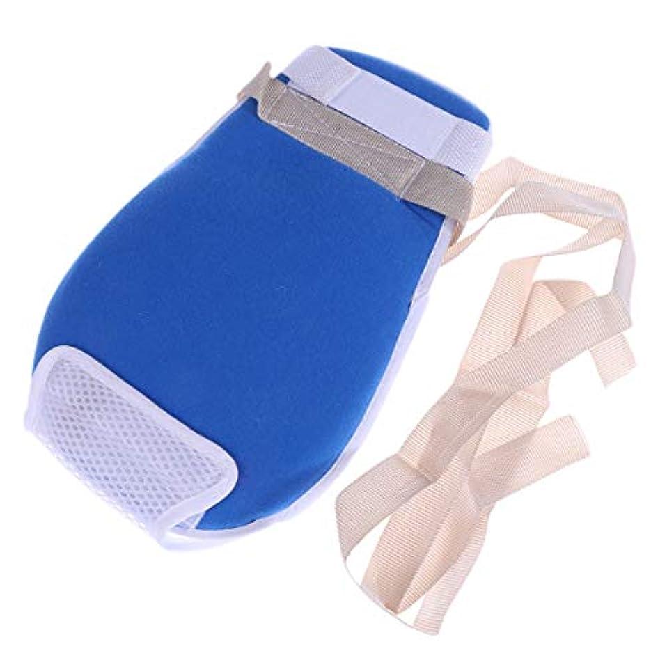 批判紳士気取りの、きざな成功したHealifty 制御手袋耐スクラッチ保護手袋(青)