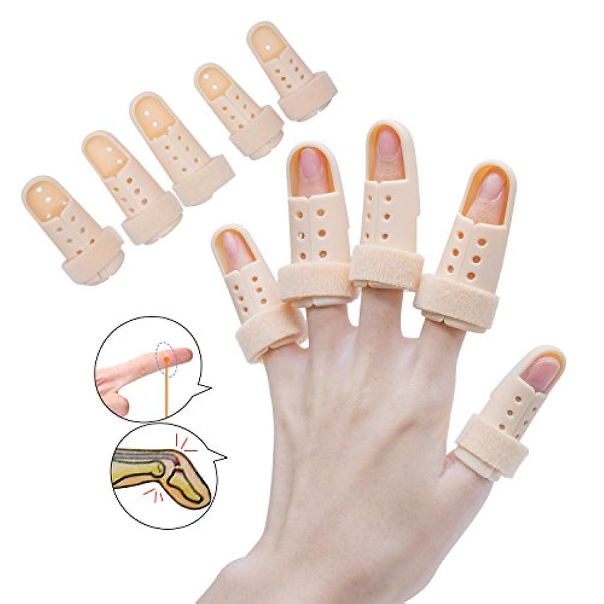 風景伝える雇うSumifun 指キャップ 指スプリントブレース 拇指サポーター 5 Pcs 親指サポーター シリコンゲル 腱鞘炎 バネ指