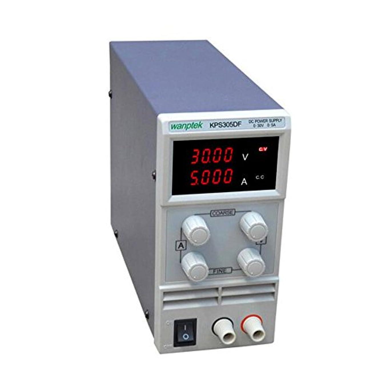 起点要求適応するKPS305DF 0-30V / 0-5A 110V-230V LEDデジタル可調節スイッチミニDC電源110V / 220V【ご希望のプラグ規格連絡を】