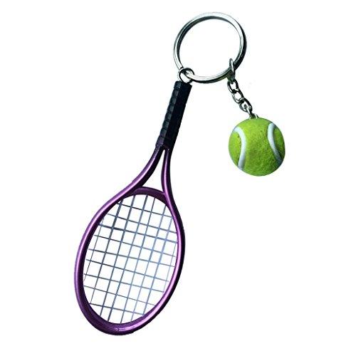 KOZEEY キーリング ミニサイズ テニスボール+ラケット...