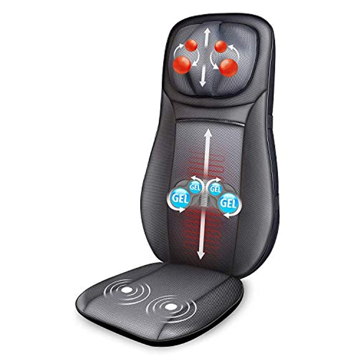 声を出して長くする蒸気Snailax Gel Shiatsu Neck & Back Massager - Gel Massage Nodes, Full Back Heating Pad, Kneading Shiatsu or Rolling...