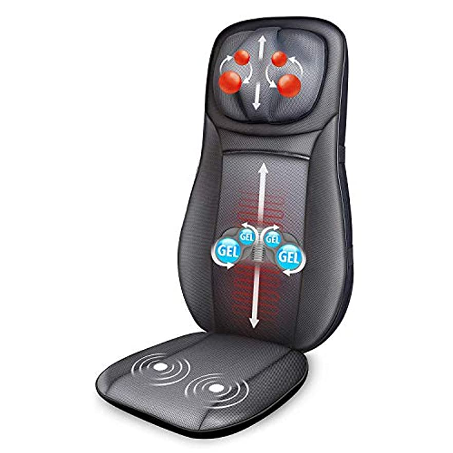 楽観ドローブルーベルSnailax Gel Shiatsu Neck & Back Massager - Gel Massage Nodes, Full Back Heating Pad, Kneading Shiatsu or Rolling...