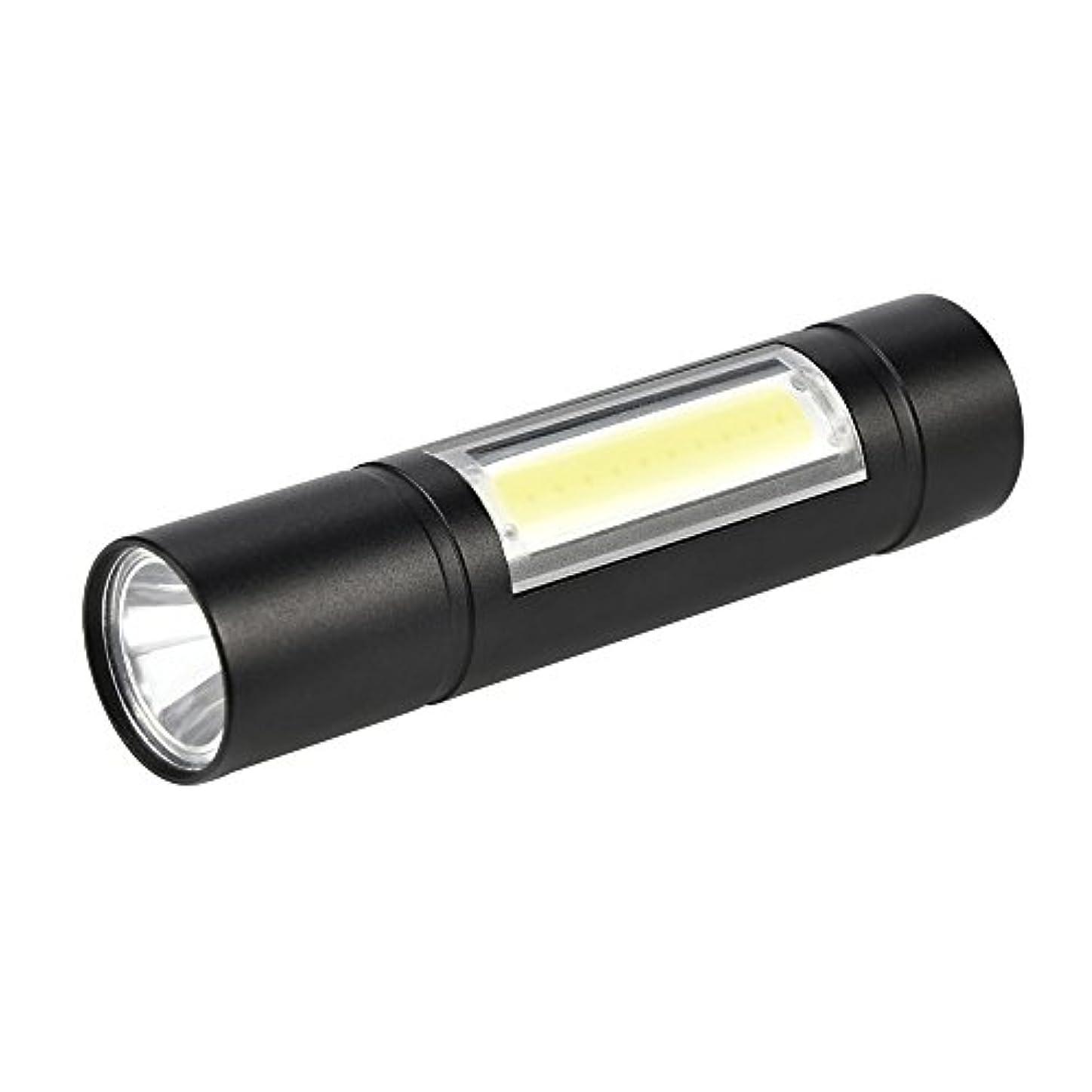 診療所代表して恒久的懐中電灯 ライト LED Fortan 防水 戦術 三つモデル 18650 防災 自転車 キャンプ 停電 防災セット 安い 超強力 ミニ 携帯しやすい USB充電式 18650電池付き