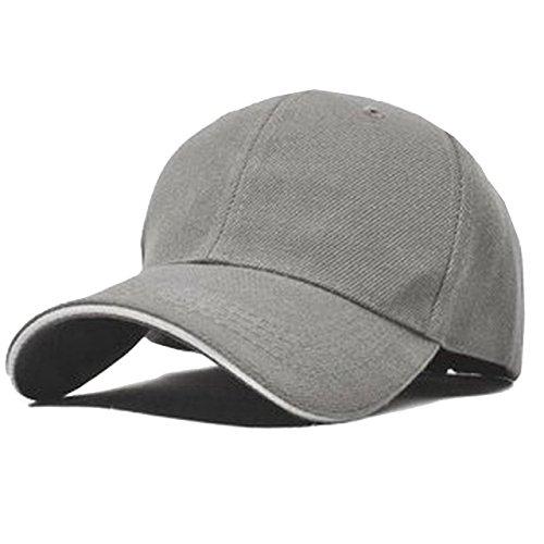 ONE LIMITATION(ワン リミテーション) ツバライン ベースボール 無地 キャップ 帽子 メンズ レディース (10.グレー)