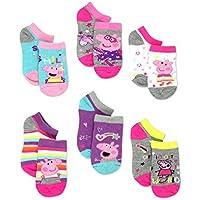Peppa Pig Girls Toddler 6 Pack Socks Set (4-6 Toddler (Shoe: 7-10), 6 pk No Show)