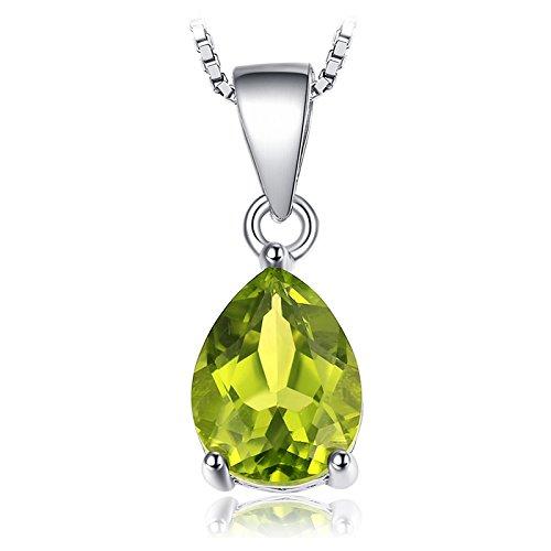 JewelryPalace 1.46ct 天然石 ペンダント ペリドット 8月 誕生石 ネックレス しずく シルバー925 チエーン 45cm アクセサリー レディース