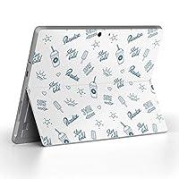 Surface go 専用スキンシール サーフェス go ノートブック ノートパソコン カバー ケース フィルム ステッカー アクセサリー 保護 アイス ハート 星 012029