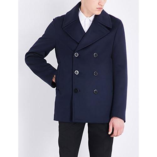 アレキサンダー・マックイーン アウター コート double-breasted wool and cashmere-blend NAVY e8i [並行輸入品]